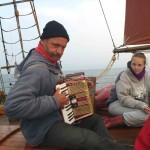 Auch unsere Skipper sind musikalisch
