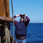 ... unter kritischen Blick des Skippers